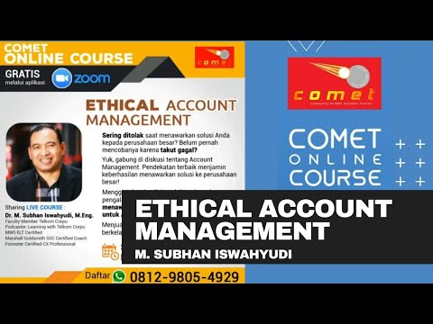 COMET Online Course #10: Ethical Account Management bersama ...