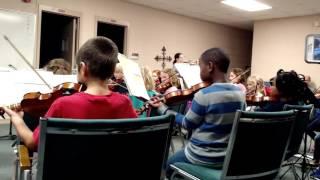 Huntsville, AL Youth Orchestra Practice, Novice Strings Group