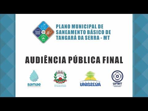Audiência Pública Final do Plano Municipal de Saneamento Básico