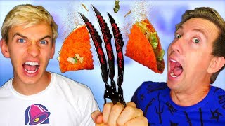 Slow Mo Ninja Gadgets vs Tacos 🌮🔔 w/ Stephen Sharer