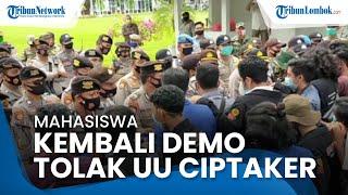 Mahasiwa di NTB Kembali Demo Tolak UU Cipta Kerja, Nilai Kinerja Satu Tahun Jokowi Mengecewakan