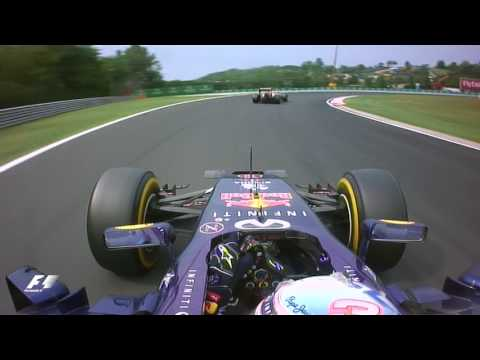 Ricciardo battles Hamilton & Alonso | 2014 Hungarian Grand Prix