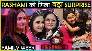 Check-Out Colors TV's controversial reality show 'Bigg Boss 13 Where In Family Week Task Rashami Desai's mother, Rasila Ajay Desai, will not be entering the house But Rashami Desai sure had something special in stored Where Rashami was jumping with joy seeing her niece and nephew in the house. Watch Video Now.   Reporter: Snehil Yadav Editor: Ganesh Yadav  #RashamiDesai #BiggBoss13 #TellyMasala  Subscribe Now http://bit.ly/SubscribeToTellyMasala  Follow Us On Instagram https://www.instagram.com/tellymasala  Like Us on Facebook https://www.facebook.com/TellyMasala  Follow Us on Twitter https://twitter.com/TellyMasala  Follow Us for more updates on Dailymotion http://www.dailymotion.com/user/TellyMasala/1   Follow Us on Google+ https://plus.google.com/u/0/113985400750240490690/posts