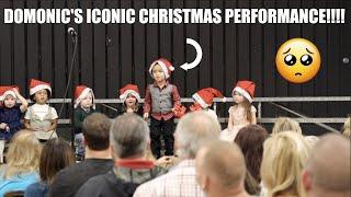 DOMONIC'S ICONIC CHRISTMAS PERFORMANCE!!!!!!