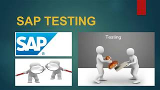 What is SAP Testing    SAP Testing