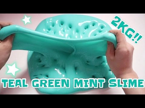 SLIME BASE WITHOUT BIOSOFT & 2KG TEAL GREEN