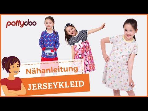 Kinderkleider aus Jersey selber nähen - Nähen für Anfänger