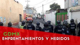 México: Policías resultan heridos en Violentos enfrentamientos contra taxistas