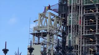 video: Extinction Rebellion protester scales Big Ben tower dressed as Boris Johnson