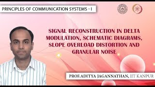 Lec 46 | Principles of Communication Systems-I |Reconstruction in Delta Modulation| IIT KANPUR