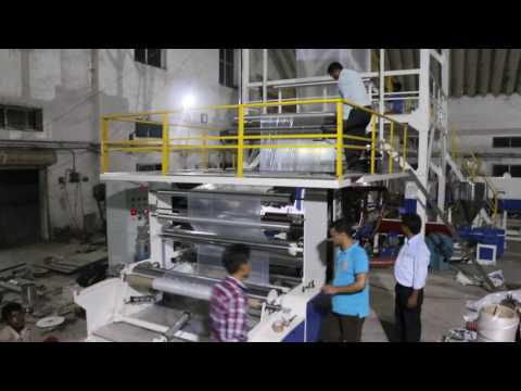 3 Layer Co Extrusion Plastic Blown Film Machine