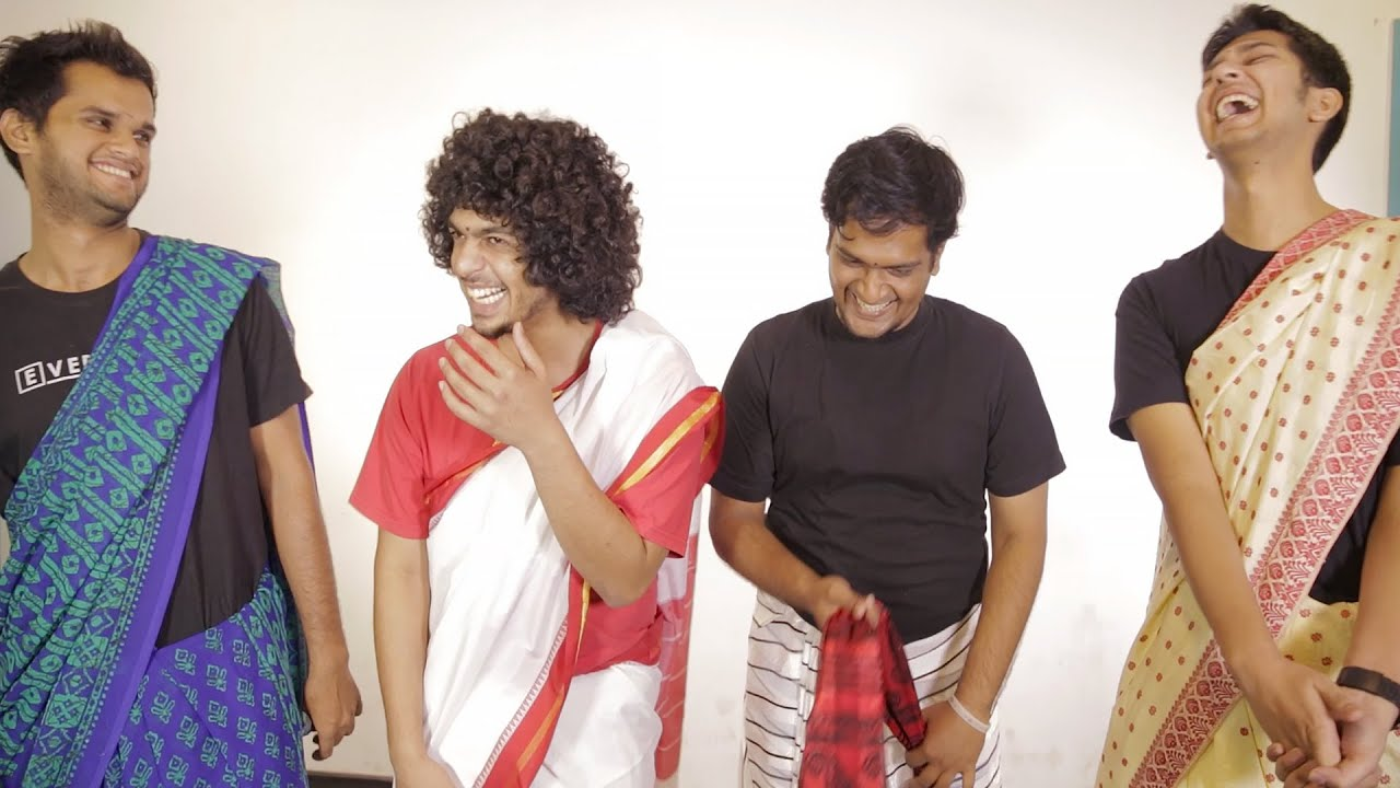 Indian Guys Try On Sarees thumbnail