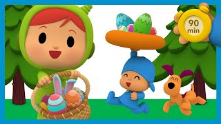 😋 POCOYO AND NINA - Chocolate Easter Eggs 90 min |ANIMATED CARTOON for Children |FULL episodes