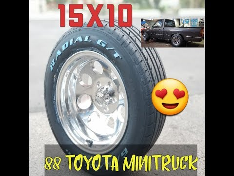 Installing 15X10 wheels and 265/50/15 tires on a 1988 Toyota mini truck