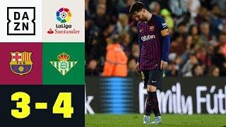 Rückkehr Von Lionel Messi Missglückt: FC Barcelona - Real Betis 3:4 | Highlights | La Liga | DAZN