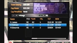 Retro Rosters Madden NFL 2008 Default Roster Vikings