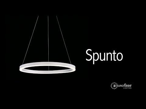 Video for Spunto Matte Black One-Light 27-Inch LED Chandelier