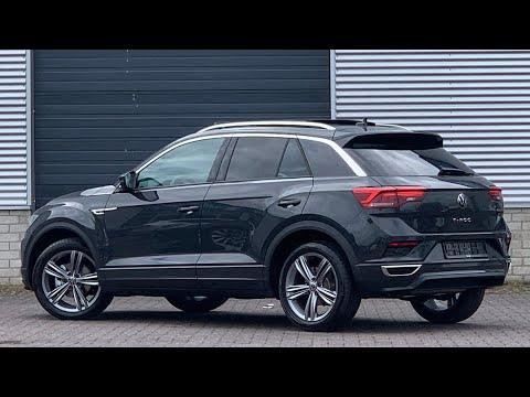 Volkswagen NEW T-roc R-Line 2021 in 4K Urano Grey 18 inch Sebring Walk around & Detail  inside