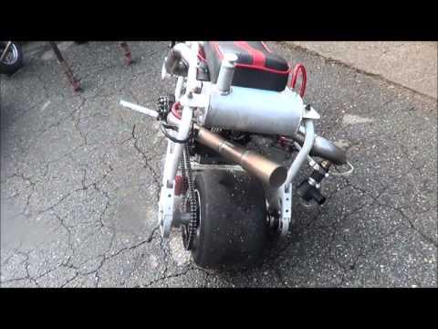 Roots Supercharged Mini Drag Bike Startup/Rev - смотреть онлайн на