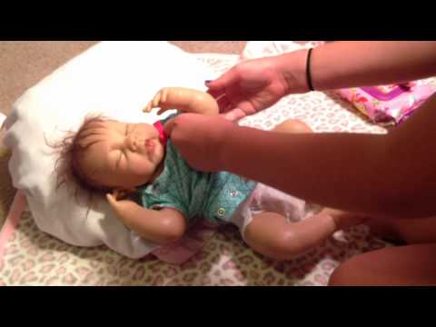 Changing Video With Reborn Baby Grace!