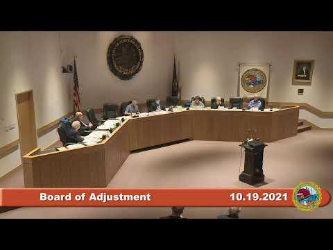 10.19.2021 Board of Adjustment