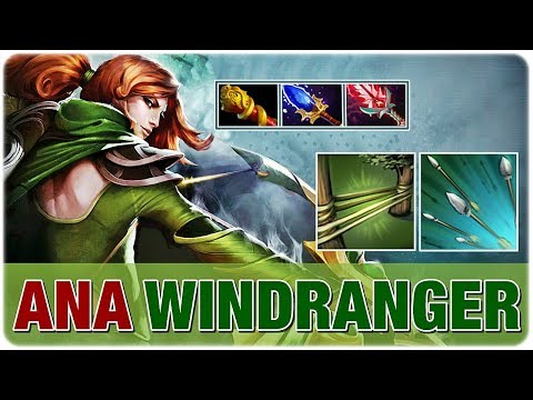 ANA Offlane WINDRANGER Immortal Super Carry - Imba Shackle Focus Fire