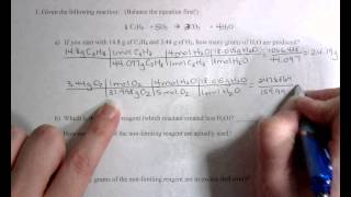 Limiting Reagent Worksheet #1