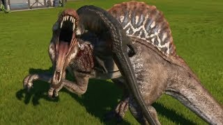 Jurassic World Evolution - INDORAPTOR vs SPINOSAURUS - Gameplay (PS4 HD) [1080p60FPS]