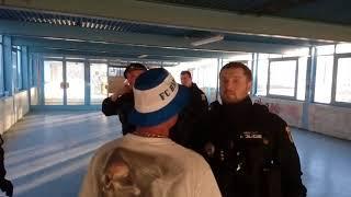 Zákrok policie po zápase Baník - Brno 26.5.2018