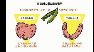 入れ歯安定剤の使い方