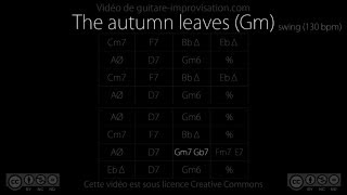 The Autumn leaves / Les feuilles mortes -  Gm (130bpm) - Backing Track