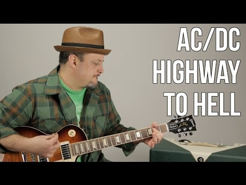 AC/DC - Highway To Hell - Guitar Lesson - How To Play Electric Guitar TutorialC - Marty Music