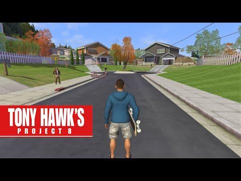 Tony Hawk's Project 8 on SICK #1 - Suburbs (PSP Gameplay)