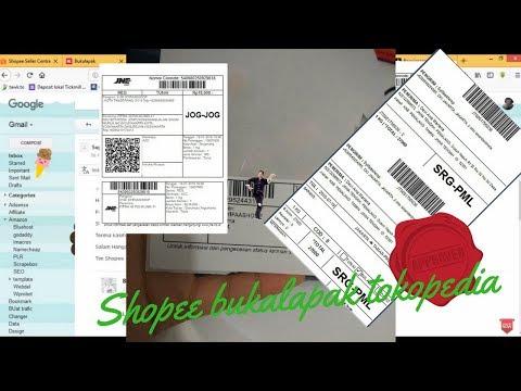 Cara Memasukkan resi JNE JNT dan case salah resi di marketplace tokopedia shopee bukalapak