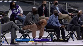 MJ Pulled Up To The Hornets Game And Looked Ready To Check In