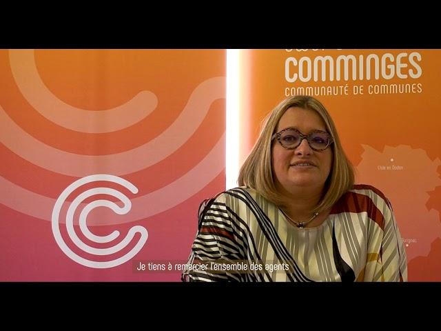 Vœux 2021 de Magali Gasto Oustric, Présidente de la CC Cœur Coteaux Comminges