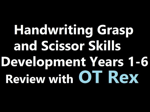 Screenshot of video: OT - Handwriting and scissor skills