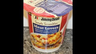 Jimmy Dean Simple Scrambles: Meat Lovers Review