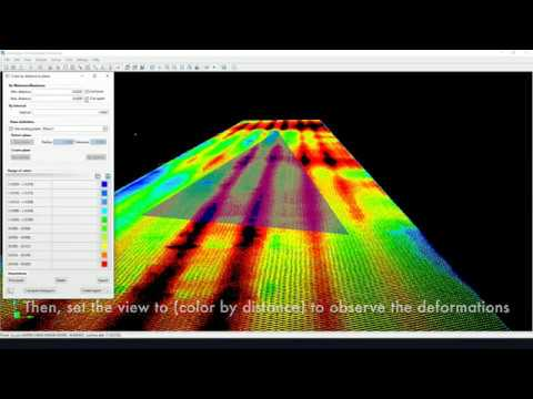 VisionLidar is the most advanced Point Cloud software so far.  It's now able of analyzing the flatness of a surface. Working on both vertical and horizontal planes, it allows to precisely monitor any indoor or outdoor structure.