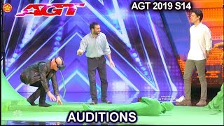 Phobia VR Psychologists with HOWIE OVERCOMES HIS FEARS  | America's Got Talent 2019 Audition