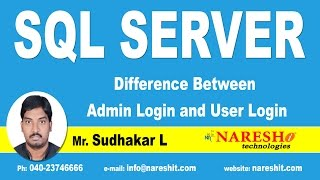 Difference Between Admin Login and User Login | MSSQL Training