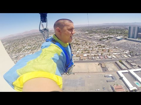 Sky Jump From Tallest Building In Las Vegas! Stratosphere Hotel