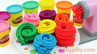 Learn Colors Play Doh Pasta Spaghetti Making Machine Toy Kinder Joy Surprise Egg Baby Finger Song | Kholo.pk