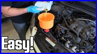 Coolant Drain and Refill Dodge Caravan 3.3L
