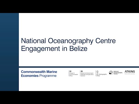 National Oceanography Centre CME Programme Belize.