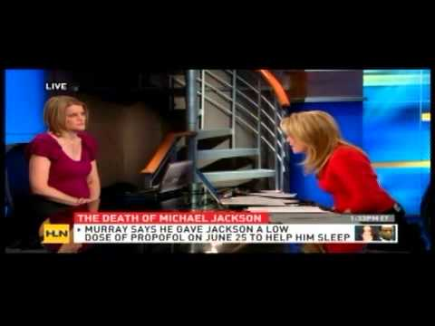 Meg Strickler on HLN discussing Michael Jackson death and Conrad Murray trial on 9/30/11