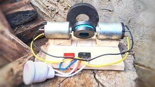 Wow! Free Energy Inventions Using DC Motor Generator With Magnets | Science Project