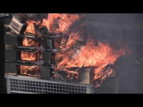 Sentry Dokumentenkassetten Feuertest