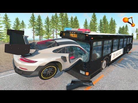 BeamNG Drive - STIG Lost his Control Crashes #4