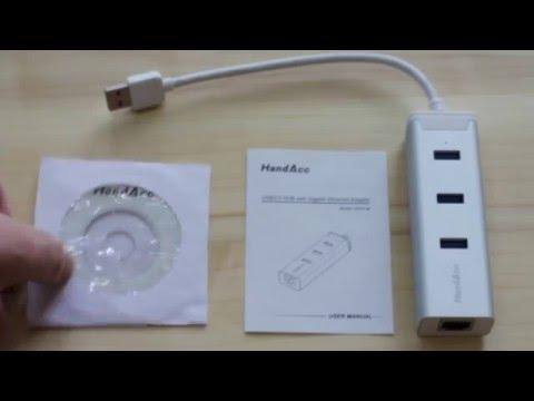 HandAcc USB3 Hub and Gigabit LAN adapter review
